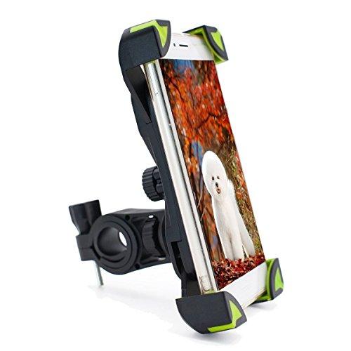 Tenshine Handyhalterung Fahrrad, Universal Handy Halterung Motorrad Handyhalter, 360 Drehen GPS Halter Smartphone Fahrradhalterung kompatibel iPhone X 8 Plus Samsung Galaxy S9 Plus S8 S7 S6(Grün)