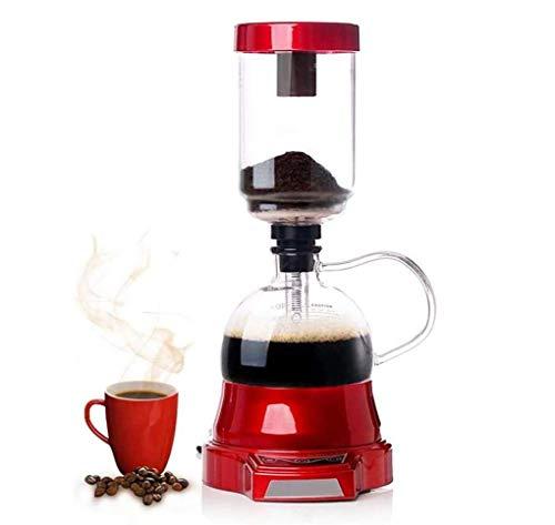CFSAFAA Kaffeemaschine SKTY Syphon Kaffeemaschine, Vakuum Kaffeekanne, elektrische Syphon Kaffeekanne Syphon Glastopf Hochtemperaturbeständige Glas, Kaffee Siphon, Rot Traditionelle Kaffeemaschine