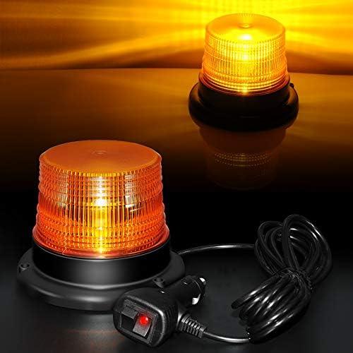 LED Beacon Light 12V 48V Amber Strobe Light High Intensity Emergency Warning Vehicle Light with product image