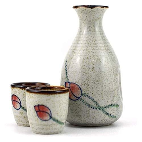 Set Set Set Japanese Sake Cup Set Ceramic Sake Set, 5 piezas de gafas de vino de loto simple de diseño, incluyendo 0 taza de sake de 0 onzas de sake de 1.5 onzas, para fríos / calientes / calientes /