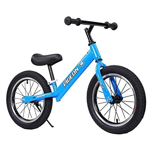 ERLAN Bicicletas sin Pedales Bicicleta de Equilibrio Deportiva para Niños Chicas, Ruedas de Entrenamiento de 14 Pulgadas, Bicicleta para Caminar para 5 6 7 8 Años, Marco de Metal Superligero