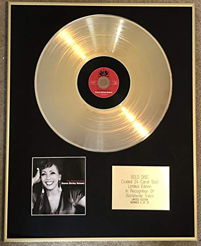 Century Presentations DAME SHIRLEY BASSEY – Limitierte Auflage CD 24 Karat Gold beschichtet LP Disc – The Performance