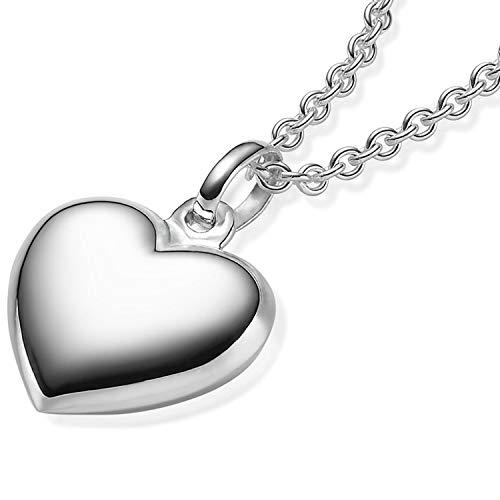 Herzkette Silber 925 Kette mit Herz-Anhänger  GRATIS Etui mit Gravur: *Ich liebe Dich* Damen-Kette...