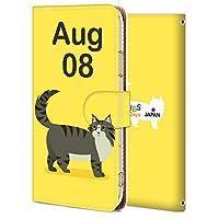AQUOS sense3 ケース 手帳型 アクオス センス3 カバー スマホケース おしゃれ かわいい 耐衝撃 花柄 人気 純正 全機種対応 誕生日8月8日-猫 アニメ アニマル かわいい 8928966