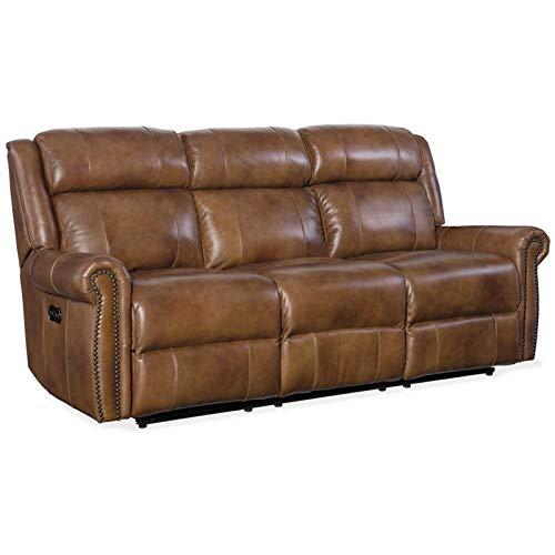 Hooker Furniture Esme Leather Power Motion Sofa in Carmel