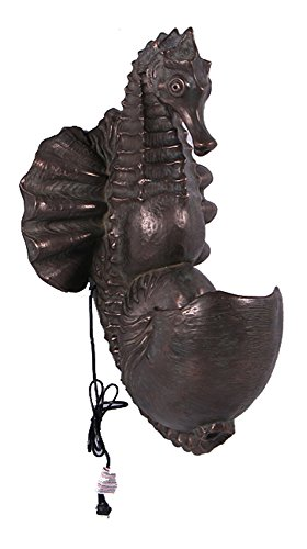 Nautical Tropical Imports Wall Mount Fountain Seahorse Verde Bronze Finish Indoor or Outdoor
