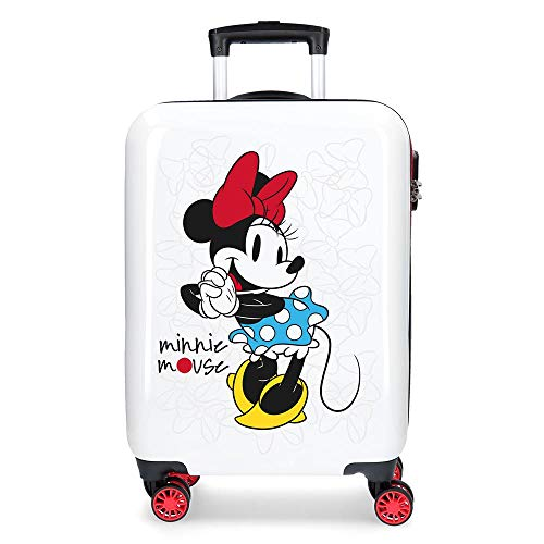 Disney Magic Equipaje Infantil, 55 cm, 33 litros, Blanco