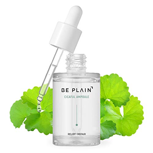 BE PLAIN Cicaful Ampoule (30ml / 1.01 fl oz) - Centella Asiatica Acne Spot Treatment Cica Serum for Face with Hyaluronic Acid