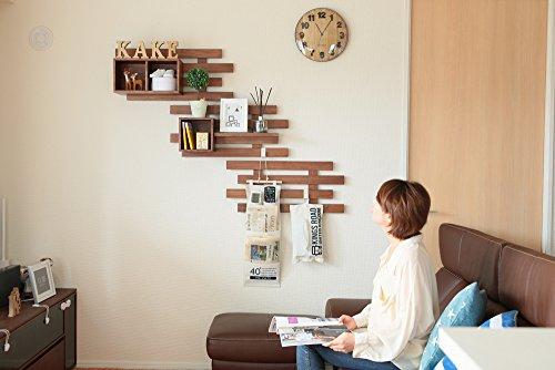 オスマック すのこに掛けられる家具 箱 2マス ダークブラウン KB-2DB 1コ入