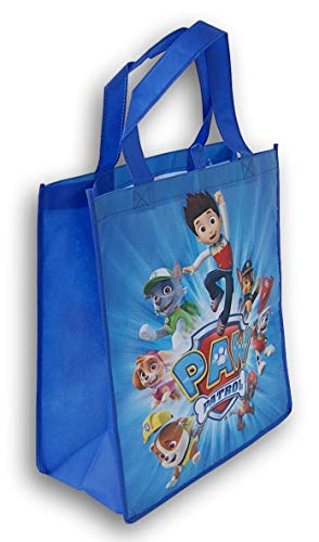Paw Patrol Reusable Tote Bag (Blue) - 13.5 x 15 Inches