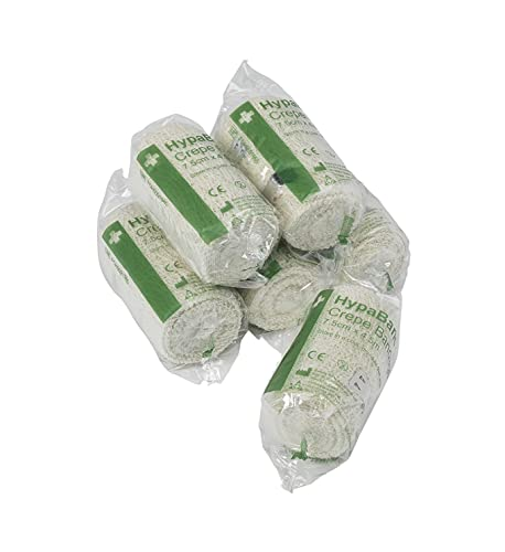 Safety First Aid Group Crepe Cotton Bandages 7.5 x 4.5 m (Pack of 6)