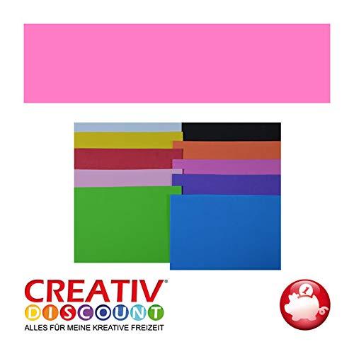 CREATIV DISCOUNT® NEU Moosgummiplatte, 29 x 20mm, 1 STK., Rosa