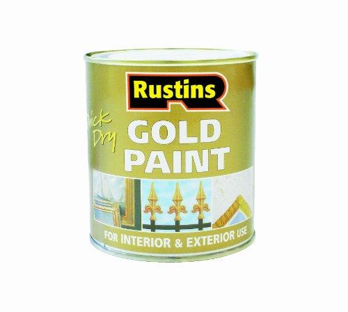 Rustins - Pintura para madera y metal (secado rápido), color dorado