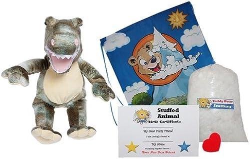 el mas reciente Make Your Own Stuffed Animal Dyno the the the Dinosaur - No Sew - Kit With Cute Backpack  by Stuffems Toy Shop  Mercancía de alta calidad y servicio conveniente y honesto.