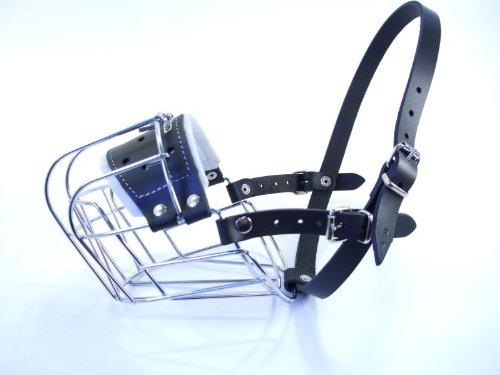 Champion Bozal para perro con cesta de alambre de metal para Rottweiler, mastín, etc. (R3)