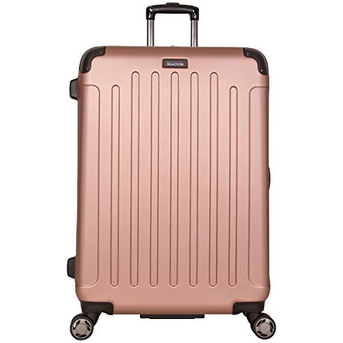 """Kenneth Cole Reaction Renegade 28"""" ABS Expandable 8-Wheel Upright, Rose Gold, inch Checked"""
