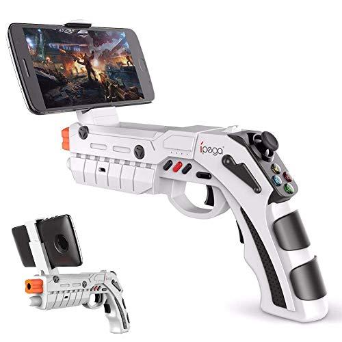 FXQIN AR Juguete del Juego de Bluetooth Gamepad Pistola eléctrica de Disparo del Arma AR Joystick para Android iOS teléfono iPhone iPad AR regulador del Juego con el Motor de vibración