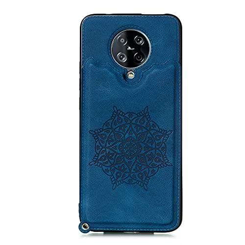 Hülle für Xiaomi Redmi K30 Pro/Poco F2 Pro Hülle, Handyhülle PU Leder Back Brieftasche Flip Magnetische Stoßfest mit Weichem TPU Handyhülle für Xiaomi Redmi K30 Pro/Poco F2 Pro Schutzhülle-Blau
