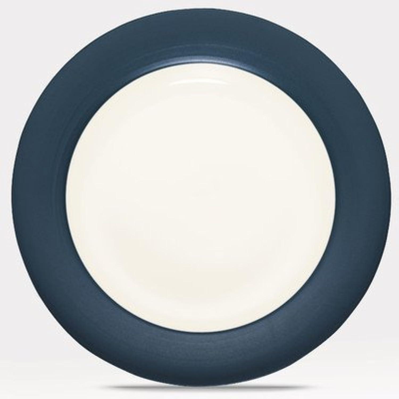 Noritake Couleurwave bleu Rim Round Platter by Noritake