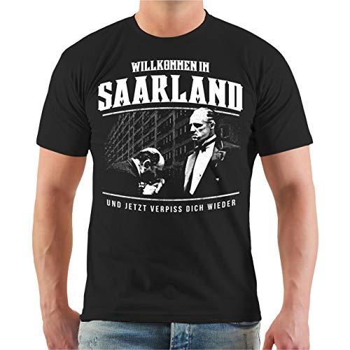 Männer und Herren T-Shirt Willkommen im Saarland Größe S - 8XL
