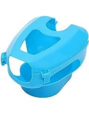 Soporte de plástico para palomas de carreras, fácil de pájaro, marco fijo, para medicinas, color azul claro