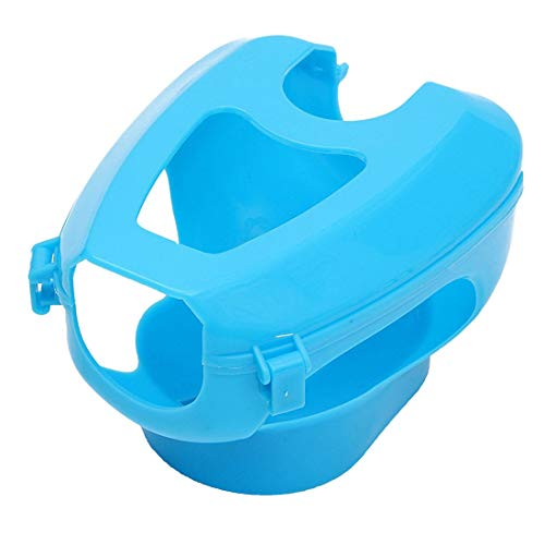 Anjing Soporte de plástico para Palomas de Carreras fácil para pájaros con Marco Fijo, alimentador de medicamentos, Color Azul Claro