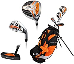 Top Performance Premium Junior Golf Club Set for Age 3-5, Right Hand & Left Hand, Boys and Girls (Orange, Left)