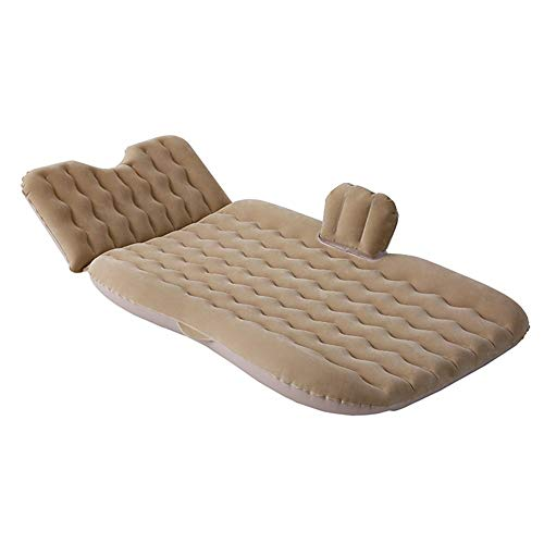 Guoziya Air Matelas Gonflable SUV Lit Portable Outdoor Voyager Air Bed Inflation Voyage Matelas Banquette Arrière Pliant Gratuit avec Pompe À Air Airbed (Couleur : Beige)