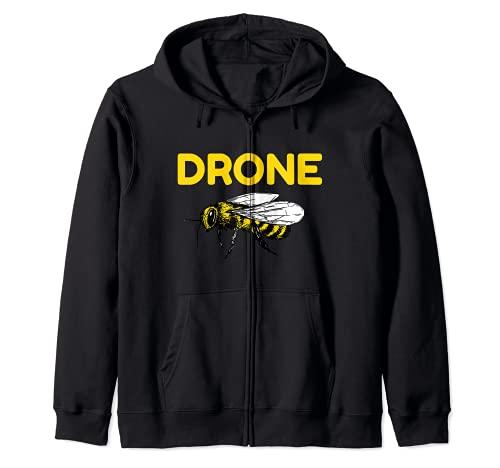 Drone Abejas Piloto Quadcopter RC Apicultura Miel Apicultor Sudadera con Capucha