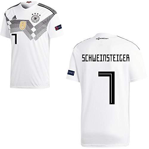 adidas Fußball DFB Deutschland Home Trikot WM 2018 Kinder Schweinsteiger 7 mit Respekt Logo Gr 152