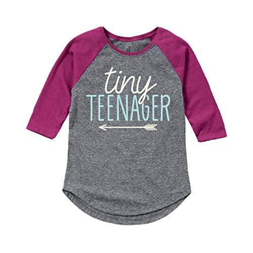 Instant Message Tiny Teenager - Toddler Girl Shirt Tail Raglan