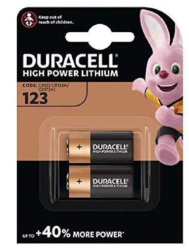 Duracell CR123-C2 - Batterie al litio per foto, confezione da 2