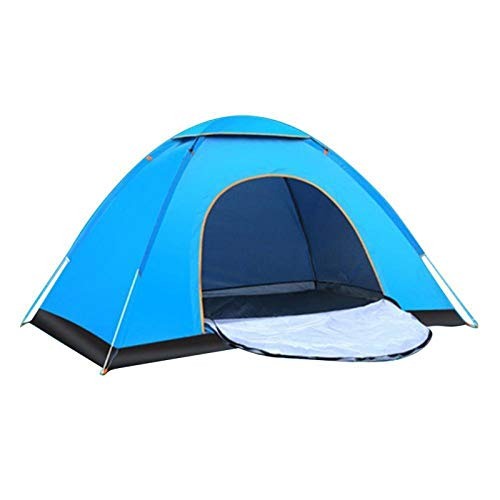 DRGRG Pop Up Tents Dome Canopy Outdoor Family Camping Tent Shade Ultralight Open Easy Camp Multiple Models Tents Anti-Uv Blue