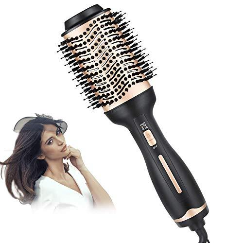 Secador de pelo cepillo, Un paso de aire caliente Styler y voluminizador, multi-funcional 3-en-1 salón profesional Negativo iónica negativa iónica plancha de pelo, adecuados for los tipos todo el pelo