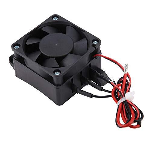 Calentador de aire con ventilador para coches de 220 V, calentador eléctrico PTC, elemento calefactor de ahorro de energía con temperatura constante automática para espacios pequeños(24V 400W)
