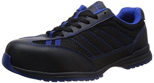 [ミドリ安全] 安全作業靴 JSAA認定 耐滑 プロスニーカー WPT110 メンズ ブラック×ブルー 30.0(30cm)