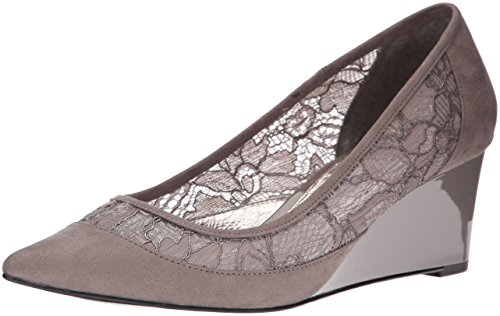 Adrianna Papell Women's Langley Pointed Toe Flat, Graphite, 9 M US