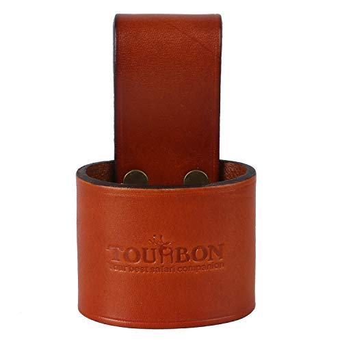 TOURBON Soporte para herramientas de mango de cuero genuino martillo, hacha de hoz para cinturón