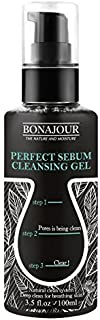 [BONAJOUR] Blackhead, Whitehead Remover Perfect Sebum Cleansing Gel With Natural Ingredients Deep Pore Cleanse, 3.5 fl. oz
