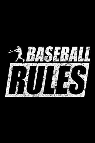 Baseball Rules: A5 Liniertes Notizbuch auf 120 Seiten - Baseball Softball Notizheft | Geschenkidee für Baseballspieler, Baseball Spieler, Baseball Vereine und Mannschaften