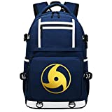XYUANG Naruto Sharingan con USB Casual Vintage Laptop Backpack Fashion Travel Bag Vintage Business Work Computer-I