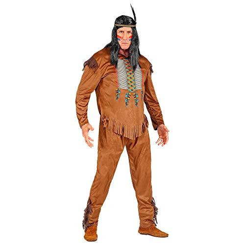 WIDMANN 08832 Disfraz de indio, para hombre, marrón, M , color/modelo surtido