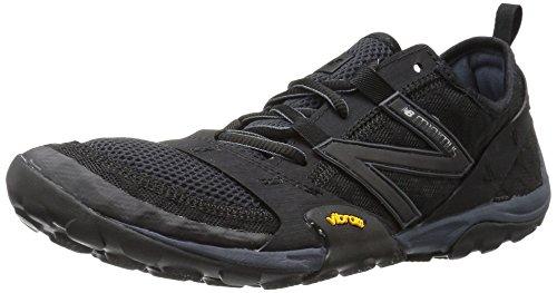 New Balance Men's Minimus 10 V1 Trail Running Shoe, Black/Silver, 9.5 M US