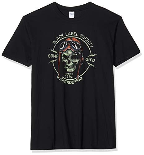 Plastic Head Black Label Society Doom Trooper TSFB T-Shirt, Nero, S Uomo