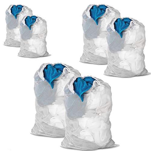DoGeek -Sac à Linge - Filets de Lavage Sac a Linge-Sacs de Blanchisserie pour Protèger Les vêtements à Laver en Machine - Blanc (6 pcs, Blanc)
