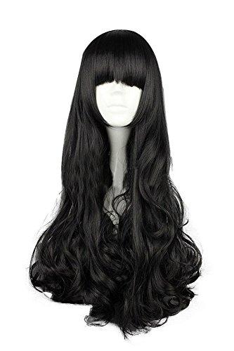 Mtxc RWBY Cosplay Blake Belladonna Long Straight Curly Wig Black