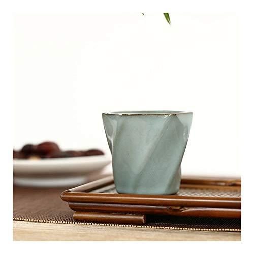 LANGPIAOEZU Diseño Conveniente Cerámica Creativa Taza de té Barra de Hierro pequeño Cuenco de té Calidad de la Llegada de la Copa Agua Alta Pequeño El Limpio (Color : B)