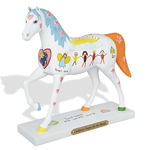 "New Enesco Trail of Painted Ponies ""Children's Prayers for the World"" Stone Resin Horse Figuri..."