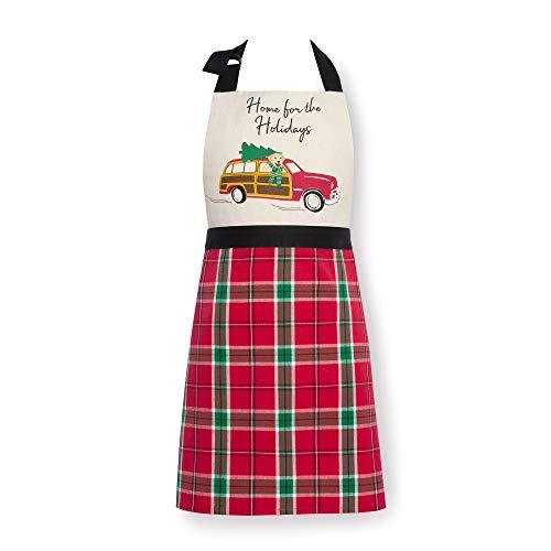 delantal cocina rojo fabricante Elrene Home Fashions