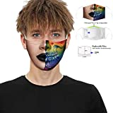 Fashion Dust Face Shield Lavable reutilizable 3D Face Shield para Hombres Mujeres
